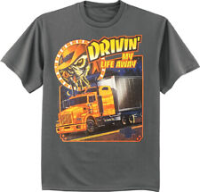 Diesel Big Rig Semi Truck Driver Eagle Tshirt for men