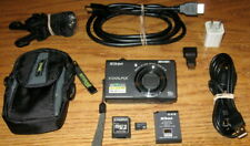 Nikon Coolpix S6200 16MP 10x Wide Optical Zoom Lens UVGC Black Guarantee Bundled