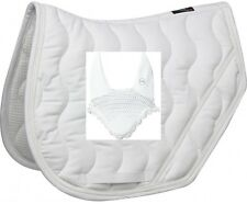 EquiTheme White Jump Saddle Pad and Fly Veil Matching Collection Pony