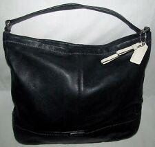 Coach Park Hobo Black Pebbled Leather Extra Large XL Tote Shoulder Bag Satchel