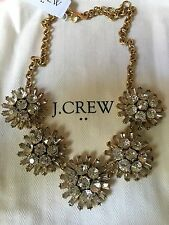 NWT J.Crew Crystal Dotted Sphere Disco Ball Statement Necklace & Dust Bag