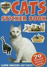 Childrens Cats Kittens Activity Book 70 Reusable Stickers Educational Facts 2033