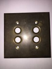 Antique Brass Double Push Button Wall Light Switch Plate Cover 040