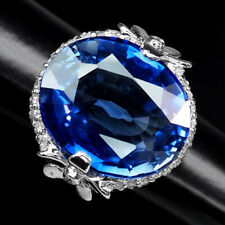 AAA VIOLET BLUE TANZANITE RING 22.90 CT. SAPPHIRE 925 STERLING SILVER SZ 5.75