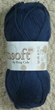 DK Knitting Wool 100g Cottonsoft DK Double Knitting 100% Cotton Yarn King Cole