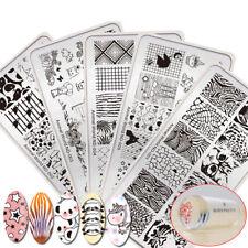 7pcs/kit Nail Stamping Plates Tools Animal World Flamingo With Stamper Manicure