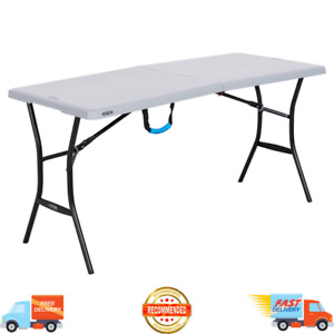 5 Ft Portable Folding Table Camping Party Dining Outdoor Picnic Steel Frame NEW