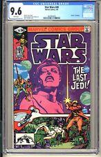 """STAR WARS #49  CGC 9.6 WP NM+  Marvel Comics 1981 The Last Jedi """"Death"""" Jedidiah"""