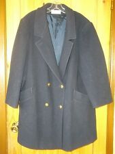 Forecaster Classic Navy Wool Blend Double Breasted Peacoat USA Made, Womens XL