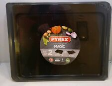 Pyrex Magic Bakeware Set of 2 Tray and Roaster - New - Kitchen Ovenware Baking