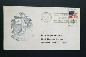 US COVER 1961, BYRD STATION ANTARCTICA, U.S.N. OPERATION DEEP FREEZE