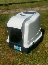 Cats toilet box cat litter tray with door flap scoop