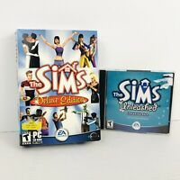 The Sims 1 Deluxe Edition PC Big Box - with Sims Unleashed - PC Game Bundle Lot