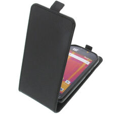 Tasche für Cat S60 FlipStyle Handytasche Schutz Hülle Flip Case Schwarz