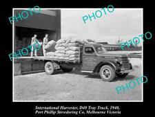OLD HISTORIC PHOTO OF INTERNATIONAL HARVESTER D40 TRUCK STEVEDORING Co c1940