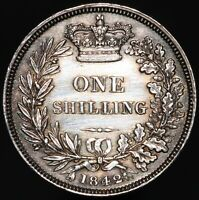 1842 | Victoria One Shilling | Silver | Coins | KM Coins