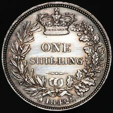 More details for 1842 | victoria one shilling | silver | coins | km coins