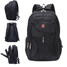 Mens Large Black Backpack Nylon Laptop Notebook Waterproof Travel School Bag