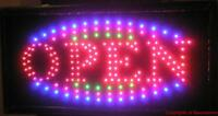 Animated LED Neon Light  Open Sign W/ Multi Color 723