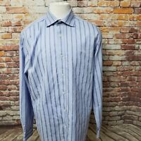 BUGATCHI UOMO MEN'S STRIPED COTTON LONG SLEEVE SHAPED FIT SHIRT SIZE XL A59-07