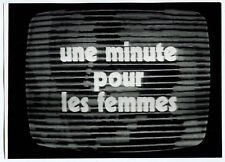 "Photo Anonyme - TV Screen - ""Une minute..."" - Tirage argentique d'époque 1960 -"
