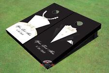 Tux and Dress Cornhole Board set