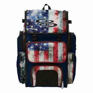 Boombah Superpack Baseball/Softball Bat Pack/Backpack - USA Series - Old Glory