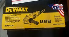 DEWALT DWE4120 4 1/2 INCH PADDLE SWITCH ANGLE GRINDER WITH NO LOCK ON 9 AMPS