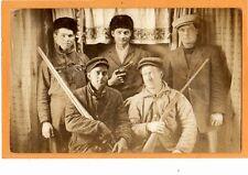 Real Photo Postcard RPPC - Hunting Hunters with Rifles and Gun