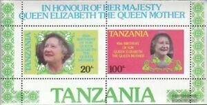 Tanzania Bloque 42 (edición completa) nuevo 1985 La madre del Rey Elisabeth