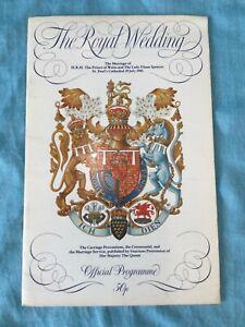 Royal Wedding Programme 1981 Charles & Diana