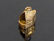 14K GOLD ENGRAVED BASKET CHARM - 2.13 grams