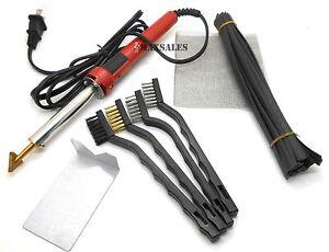 New 80 Watt Iron PLASTIC WELDING KIT TPO TEO PP Rod Mesh Auto Welder Repair Kit
