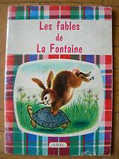 LIVRE ENFANT ILLUSTRE : FABLES DE LA FONTAINE – ILLUSTR DE GIANINI O.D.E.J. 1962