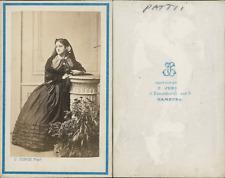 Junod, Paris, Adelina Patti Vintage CDV albumen carte de visite CDV, tirage