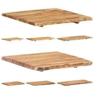 vidaXL Massivholz Tischplatte Baumkante Massivholzplatte mehrere Auswahl