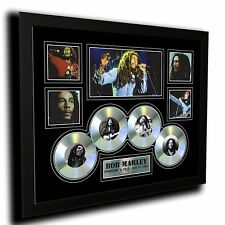 BOB MARLEY CDS SIGNED LIMITED EDITION FRAMED MEMORABILIA
