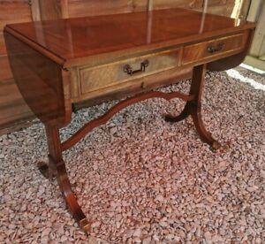 Vintage Reproduction Mahogany Sofa Table
