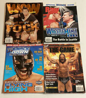 WWE WWF WOW Wrestling Magazines LOT of 4 Smackdown WCW HHH The Rock ECW