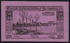 1920 AUSTRIA 50 HELLER NOTGELD NOTE * EF * Ref 89 *
