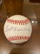 Ted Williams Autographed Official American League (Brown) Baseball –Full JSA LOA