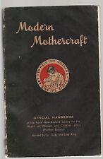 MODERN MOTHERCRAFT : A GUIDE TO PARENTS - DEEM & FITZGIBBON  vintage  1946 ax