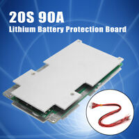 20S 72V 90A BMS PCM PCB Li-ion 18650 Battery Protection Board + BALANCE charge