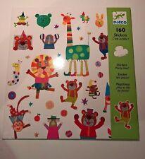 Djeco Party Time Children's autocollants livre de 160 récompenses Learning Scrapbook Art