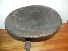 "Arts of Africa - Ethiopian 3 Legged Stool - Ethiopia - 14"" Height x 18"" Wide"