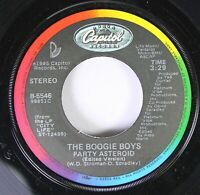 Hear! Rap Electro 45 The Boogie Boys - Party Asteroid / Runnin' From Your Love O