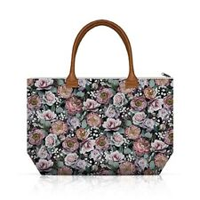 Canvas Shopping Tote Bag Vintage Flowers By Ambiente