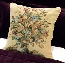 """French Country Floral Tapestry Cushion / Pillow Cover Sham 45cm 17.5"""" Square New"""