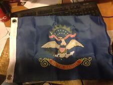 "New listing North Dakota -State Flag- 12"" x 18"" Nylon - Made In Usa"