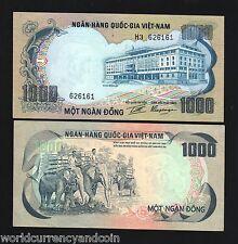 VIETNAM SOUTH 1000 DONG P34 1972 *BUNDLE* ELEPHANT AUNC CURRENCY MONEY 100 PCS